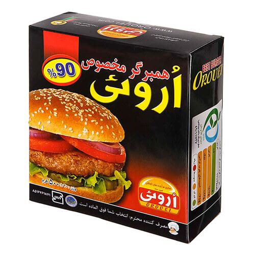 چاپ و طراحی جعبه همبرگر آماده