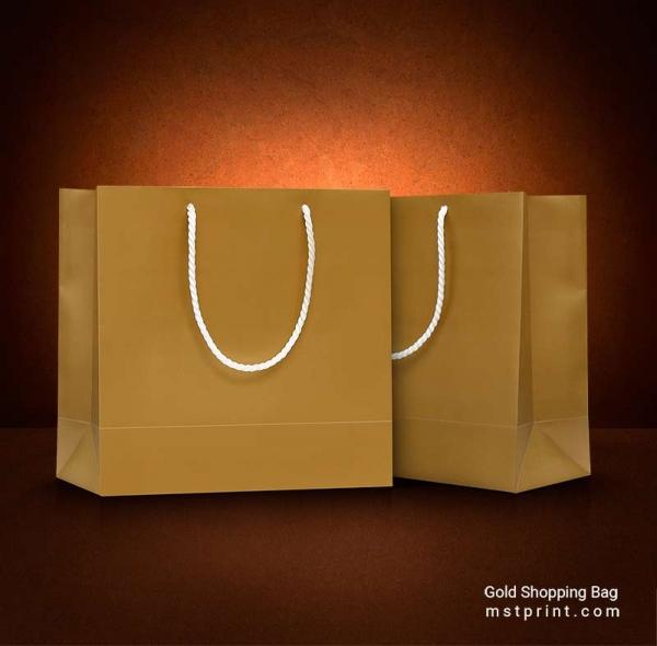 خرید ساک دستی گلاسه طلایی